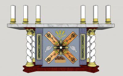 Návrh nového oltára a ambóny